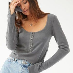 Out From Under Remi Split-Sleeve Henley Top